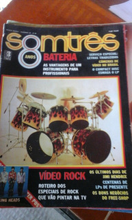Revista Somtrês N 96 Dez 1986 Poster Talming Heads Rara
