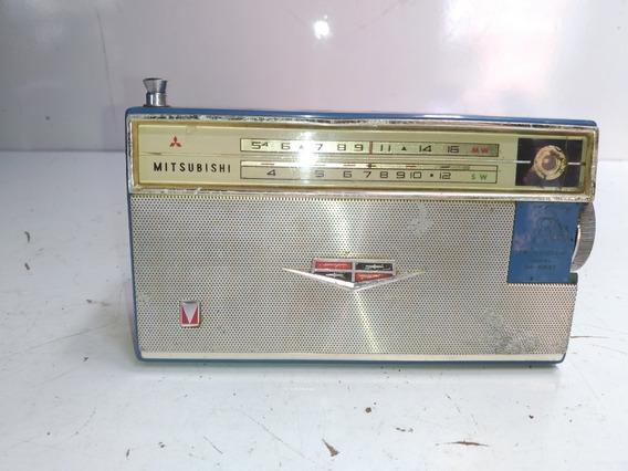 Radio Mitsubishi 8x-584t Transistorizado Antigo