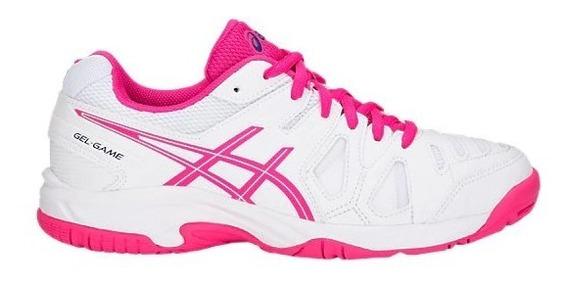 Tênis Asics Gel Game 5 Gs Feminino Infantil Branco/rosa
