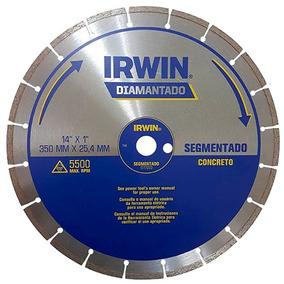 Disco Diamantado Segmentado De Concreto 14 350mm Irwin