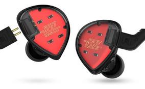 Fone In Ear Kz Es4 Retorno Monitor Palco Esportes Sem Mic