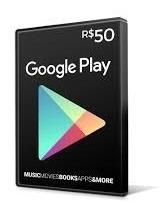 Vale-presente Google Play R$50,00