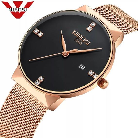 Relógio Original Top Luxo Aço Inoxidável Garantia Oferta