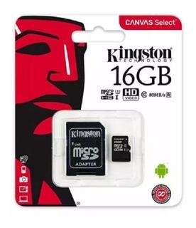 5 Cartão De Memória Kingston Micro Sdhc 16gb Classe 10