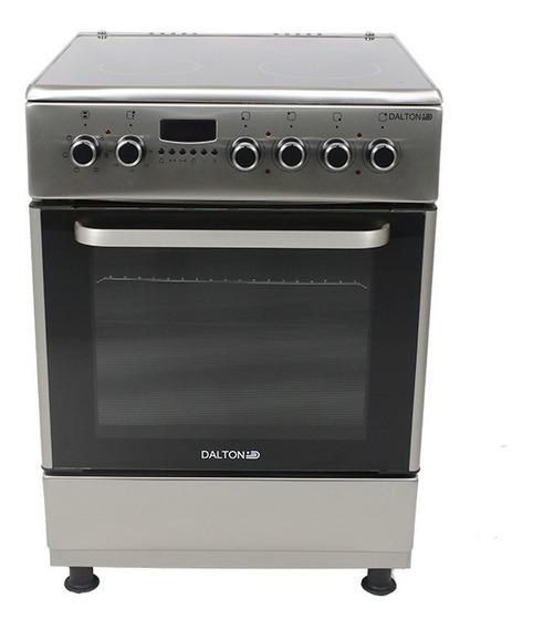 Cocina Eléctrica Vitrocerámica Inox 60x60cm 4 Placas Dalton