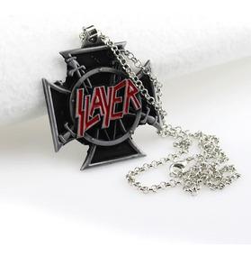 Colar Pingente Banda Rock Thrash Metal Slayer Repentless