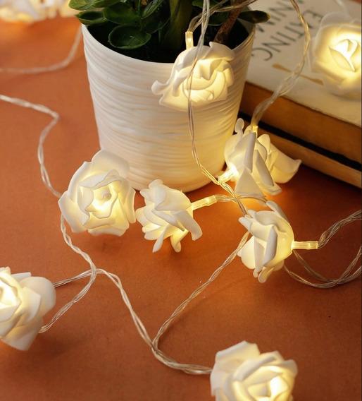 Cordão Luminoso Rosas (flor) Led A Pilha