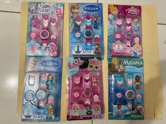 Relógios Infantis Digital + Lego (temas Meninos E Meninas)