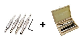 Box 8 Brocas Escariadoras + Kit 4 Brocas Centralizadoras
