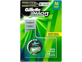 Carga Para Aparelho De Barbear Gillette Mach3 Sensitive 16un
