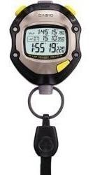 Cronômetro Casio Stopwatch Hs-70w 1/1000 Lap 100 X 2