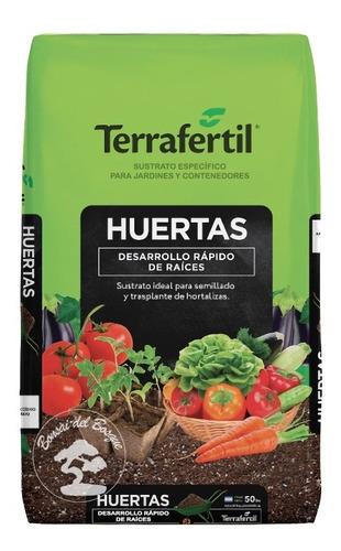 Sustrato Preparado Tierra Para Huerta Terrafertil 50dm3  Mev