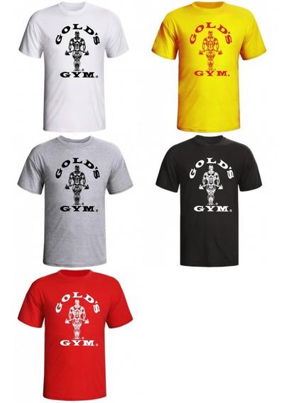 Camiseta Golds Gym Para Treino De Academia Masculina