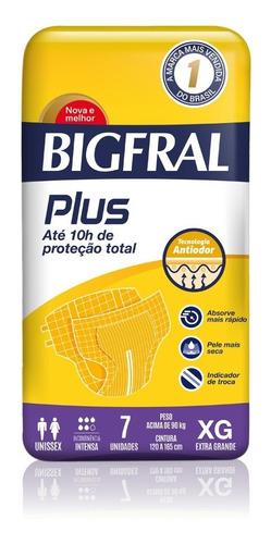Fralda Bigfral Plus Normal Tamanho Xg 7 Unidades