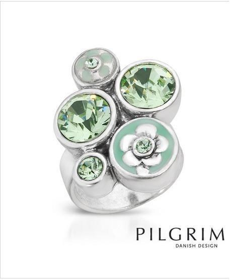Anillo Marca Pilgrim Con Cristales 02374744