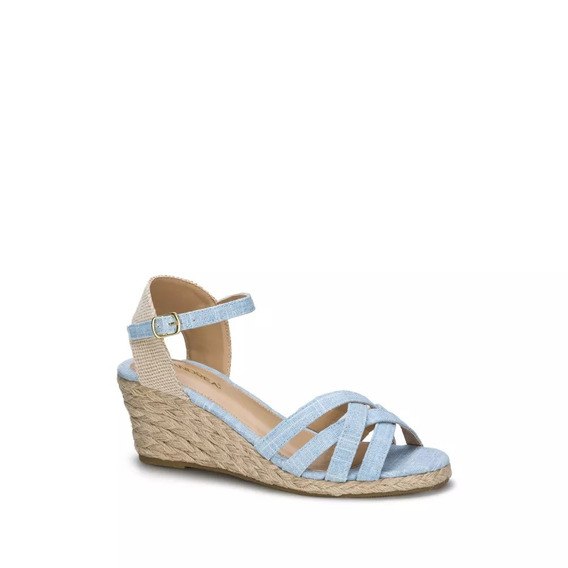 Sandalia Ankle Strap Mujer Azul Andrea 2018