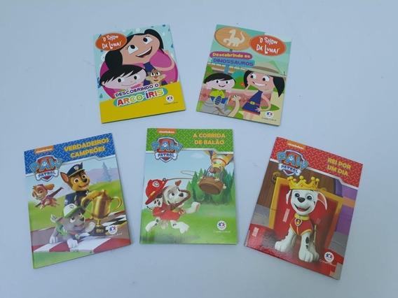 Kit 5 Mini Livros Variados - Show Da Luna E Paw Patrol