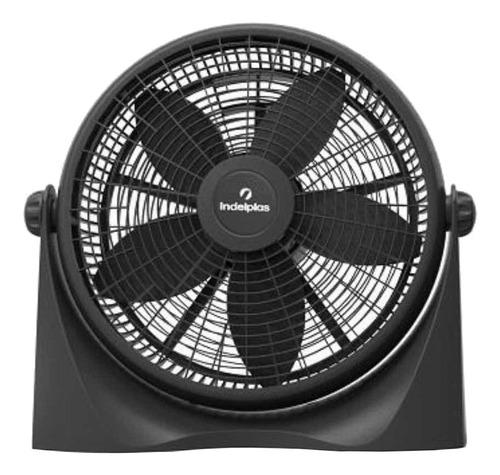 """Ventilador de pared y de piso Indelplas IV16 turbo negro con 5 palas de  plástico, 16"""" de diámetro 220V"""