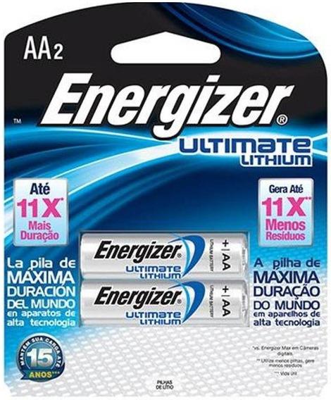 Pilha Aa 1,5v Ultimate Lithium Energizer - Cart. C/2 Pilhas
