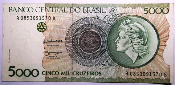 Brasil 5000 Cruzeiros 1990 Pick 227 Xf+