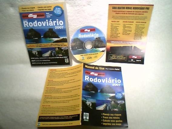 Cd - Rom / Guia Quatro Rodas 2007 / Abril Cultural