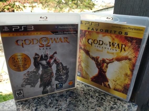 God Of War Coleção 6 Jogos Saga 2 Blu-ray + Assencion