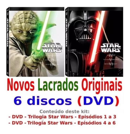 Box Dvd Star Wars 6 Filmes (1 Ao 6) Lacrados E Originais