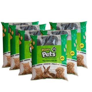 Pack Sanitario Vegetal Biomasa Poopy Pets 5 Unidades X 5 Kg