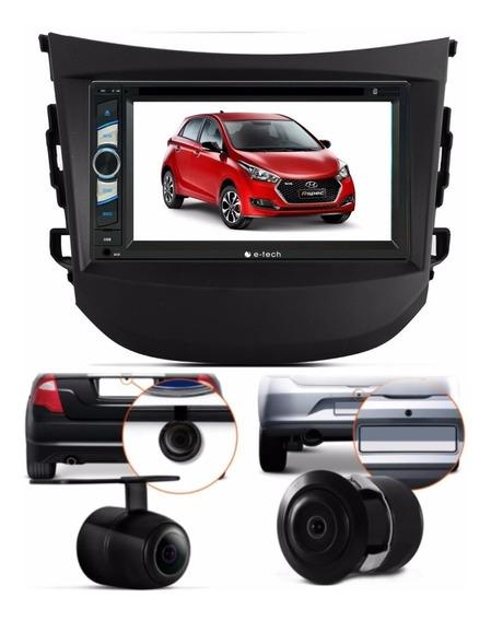 Central Multimidia Dvd Hyundai Hb 20 + Moldura + Camera