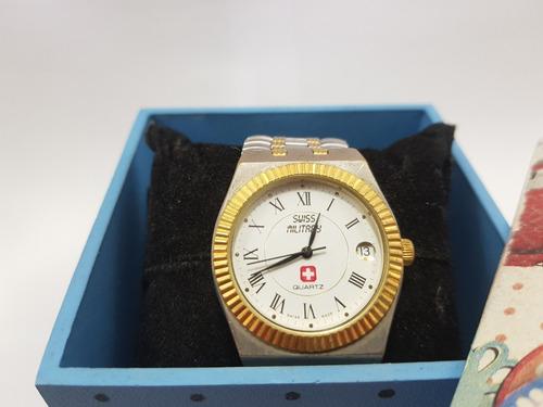Relógio Swiss Militar Quartzo Antigo Revisado