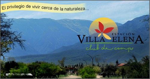 Lote 1230m2 En Estación Villa Elena Club De Campo Los Molles
