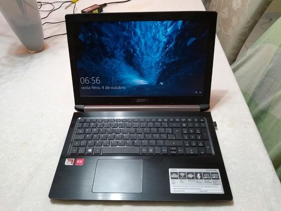Notebook Acer Com Pouco Uso Com Caixa Original