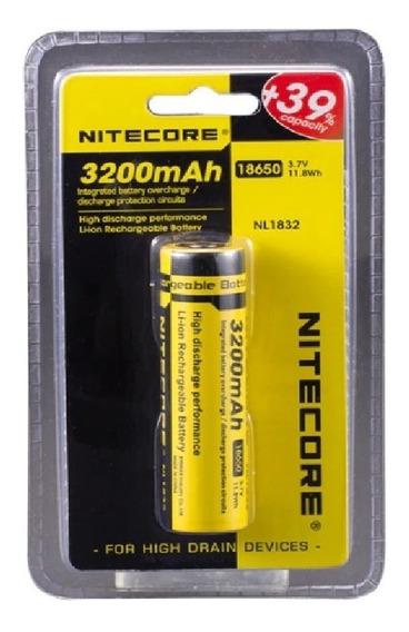 Bateria Nitecore 18650 3200mah 3,7 V Nl1832 Li-ion A Melhor