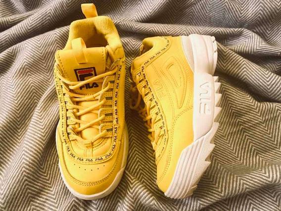 Zapatillas Fila Amarillas Originales
