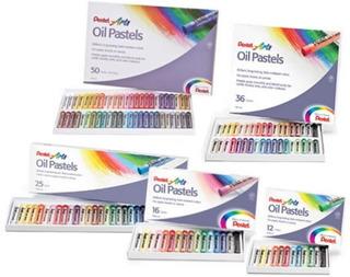 Gis Pastel Oil Aceite 12 Colores Graso Dibujo Arte Escolar