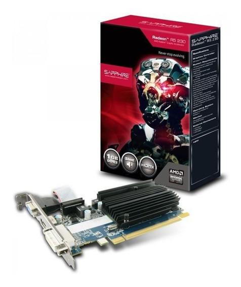 Placa De Video Sapphire Ati Amd R5 230 1gb R5230 Gamers