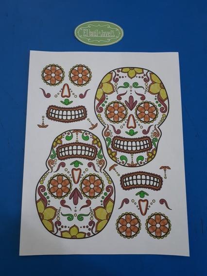 10 Transfer Tema Halloween/ Día De Muertos El Baúl De Jave