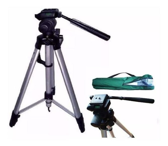 Tripe Camera Profissional 1,2 Metros C/ Nivel Fotográfica