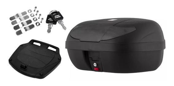 Baú Moto 45 Litros Bauleto Pro Tork 2 Capacetes Smart Box