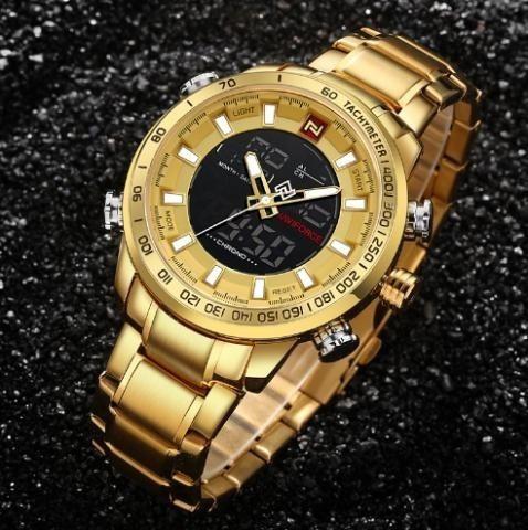 Relógio Masculino Dourado Em Promoção Naviforce