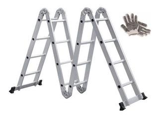 Guantes Y Escalera De Aluminio Articulada 4x4