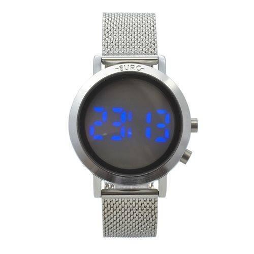 Relógio Feminino Digital Prateado Euro Eubj3407ab/3p
