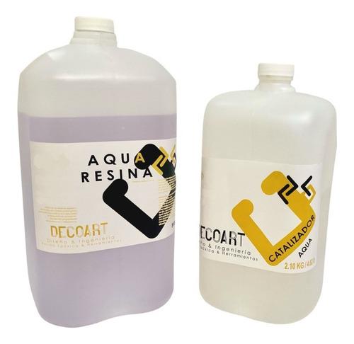 Imagen 1 de 10 de Resina Epoxica Transparente Aqua A+b 7.10kg Altos Espesores