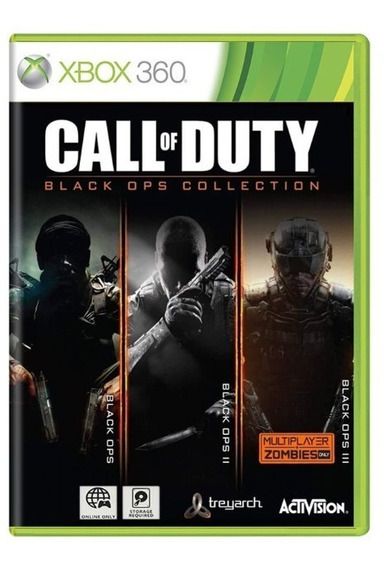 Call Of Duty Black Ops Collection Xbox360 Mídia Física Usado