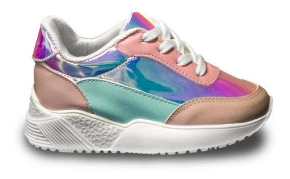 Daddy Sneakers Para Niña Rosa Tornasol Y Mensa