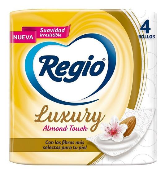 Papel Higiénico Regio Luxury Almond Touch 4 Rollos