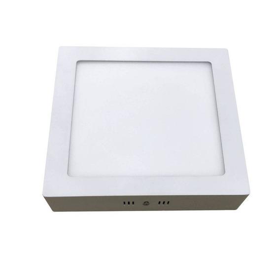 Kit C/ 4 Plafon De Sobrepor Home Led Quadrado 24w Bronzearte