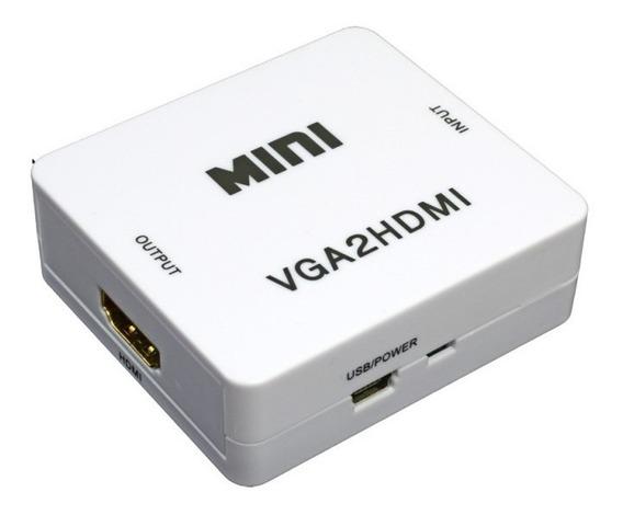 Mini Conversor Hd Vídeo Vga X Hdmi Vga2hdmi ( Vga Para Hdmi)