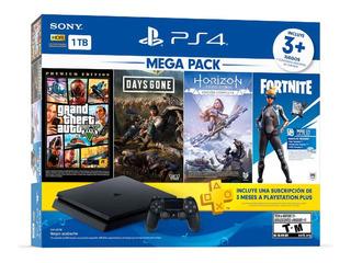 Playstation 4 Ps4 Slim 1tb 4 Juegos 1 Membresía Nuevo Tienda