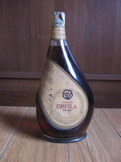 Antigua Botella Vino Rosado Viñas De Orfila, Cerrada